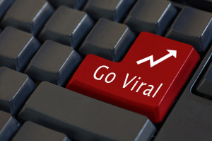 54686630 - 'go viral' on enter keyboard