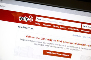 58779259 - yelp website on a computer screen.